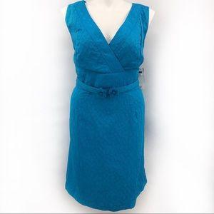 Studio I Blue Textured Sleeveless Dress Belt New